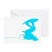 Blue Wakeboard Invert HP Greeting Card