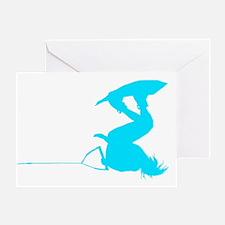 Blue Wakeboard Invert HP Greeting Card