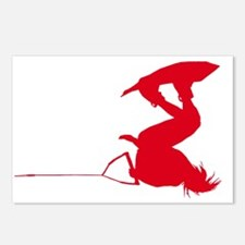 Red Wakeboard Invert HP Postcards (Package of 8)
