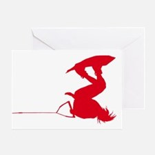 Red Wakeboard Invert HP Greeting Card