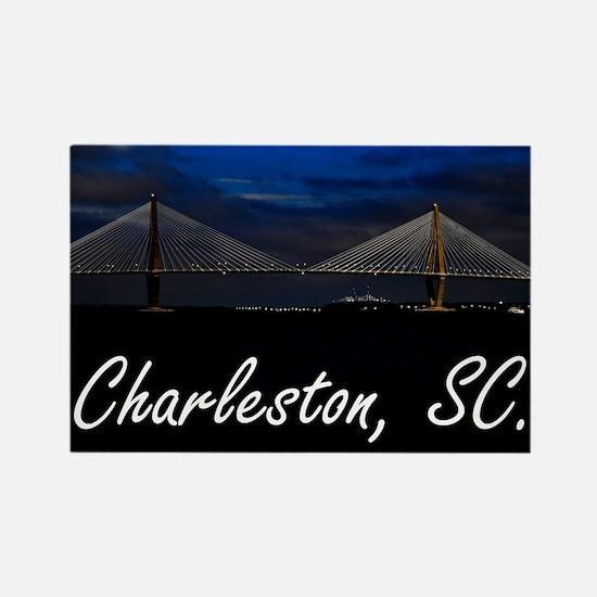 Charleston Puzzle Rectangle Magnet