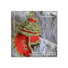 """Marry Christmas Scarf Square Sticker 3"""" x 3"""""""