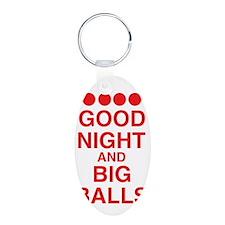 good-night-big-balls-red Aluminum Oval Keychain