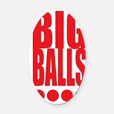 big-balls-black Oval Car Magnet