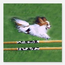 "agility dog art1 Square Car Magnet 3"" x 3"""