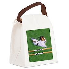 agility dog art1 Canvas Lunch Bag