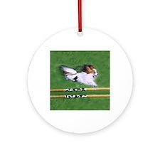 agility dog art1 Round Ornament