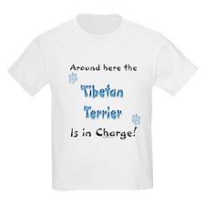 Tibetan Terrier Charge Kids T-Shirt