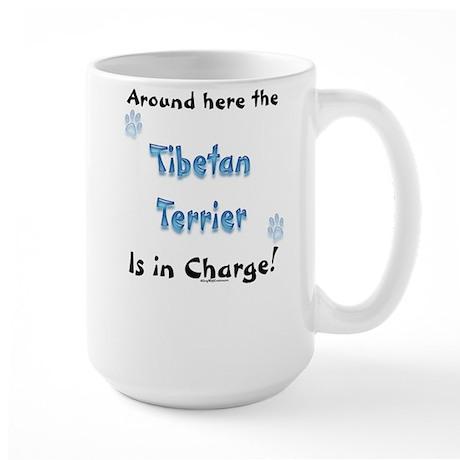 Tibetan Terrier Charge Large Mug