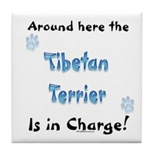 Tibetan Terrier Charge Tile Coaster