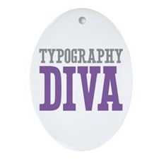 Typography DIVA Ornament (Oval)