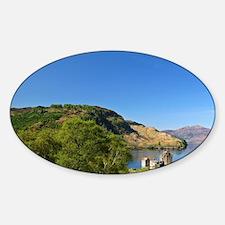 Scotland. The famous Eilean Donan C Sticker (Oval)