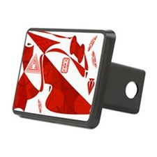 Red Abstract Holiday Blown Hitch Cover
