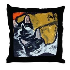 Freddy and Fanny Throw Pillow
