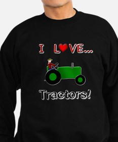 I Love Green Tractor Sweatshirt