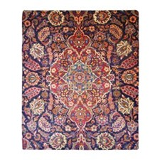 Handmade carpet Throw Blanket