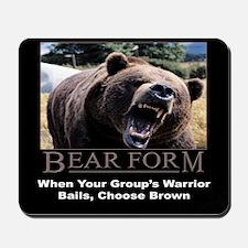 Bear Form Mousepad