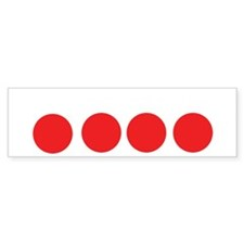 fourballs-white Bumper Sticker