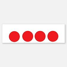 fourballs-white Sticker (Bumper)