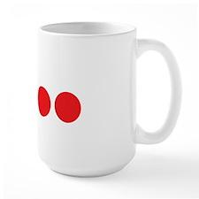 fourballs-white Large Mug