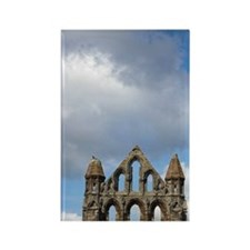Whitby Abbey ruins (built circa 1 Rectangle Magnet