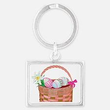 easter basket Landscape Keychain