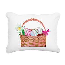 easter basket Rectangular Canvas Pillow