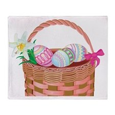 easter basket Throw Blanket