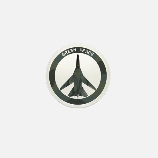 FB-111 Green Peace Mini Button