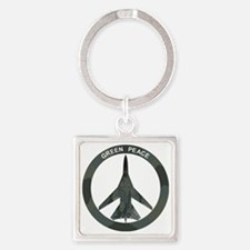 FB-111 Green Peace Square Keychain