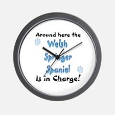 Welsh Springer Charge Wall Clock
