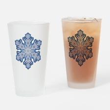 Snowflake Design - 006 - transparen Drinking Glass