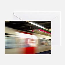 London. Underground train station (a Greeting Card
