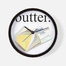 butter. Wall Clock