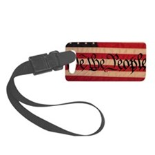 WE THE PEOPLE WITH FLAG OF AMERI Luggage Tag
