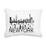 New york Rectangle Canvas Pillows