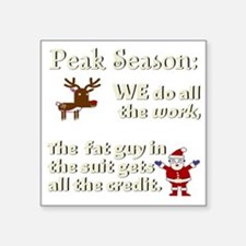 "peak-3000x3000-white Square Sticker 3"" x 3"""