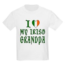 I Love My Irish Grandpa Kids T-Shirt