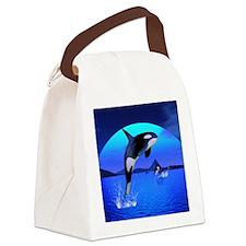 orca_puzzle Canvas Lunch Bag