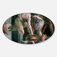 1520). Italian painter. The fire in Sticker (Oval)