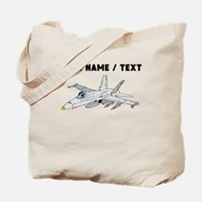 Custom Fighter Jet Tote Bag