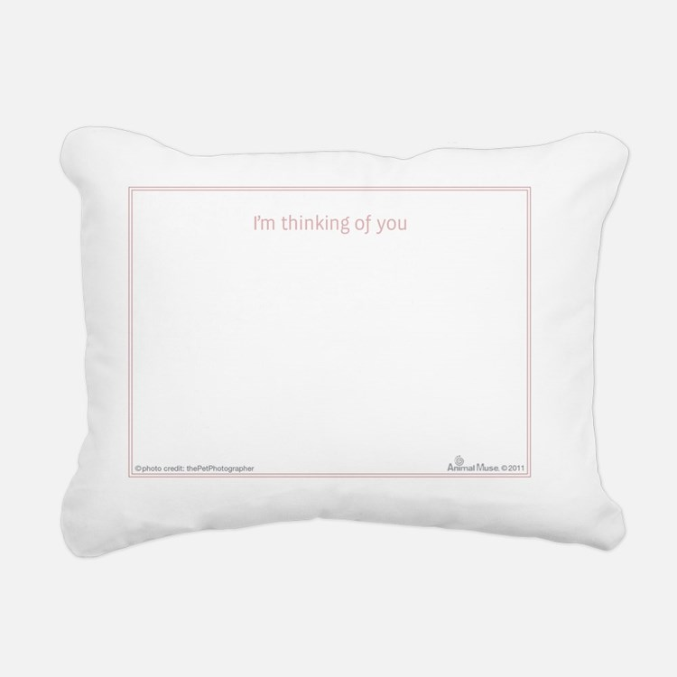 am notecard_int_h_001 Rectangular Canvas Pillow