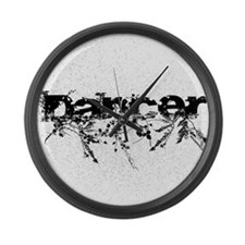 Abstract Dancer by DanceShirts.co Large Wall Clock