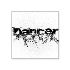 "Abstract Dancer by DanceShi Square Sticker 3"" x 3"""