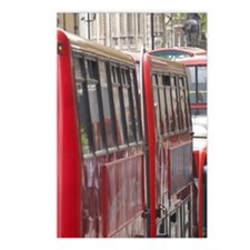 Buses in traffic jam, Whi Postcards (Package of 8)