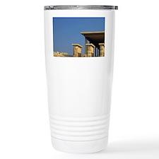 Kourion. Tourists visit the anc Travel Mug