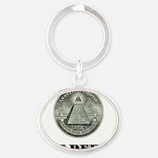 gotdebt_great_eye Oval Keychain
