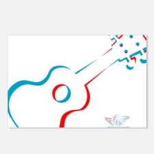 3D Ukulele Postcards (Package of 8)