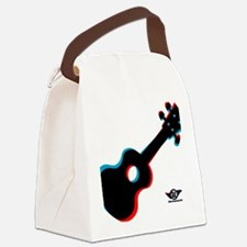 3D Ukulele Canvas Lunch Bag