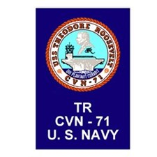 Cute Uss roosevelt Postcards (Package of 8)